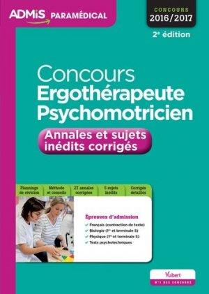 Concours Ergothérapeute et Psychomotricien - vuibert - 9782311200317
