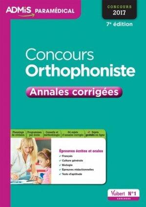 Concours orthophoniste 2017 - vuibert - 9782311202854 -