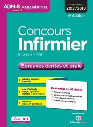 Concours Infirmier - Épreuves écrites et orale - vuibert - 9782311202953 -