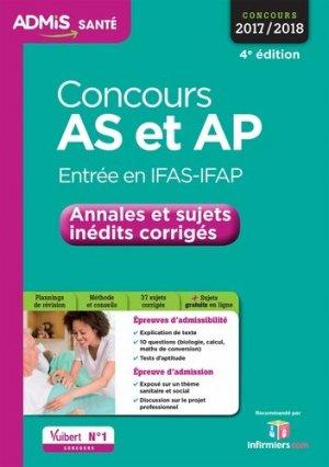 Concours AS et AP - Entrée en IFAS-IFAP - vuibert - 9782311202960 -