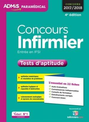 Concours Infirmier - Tests d'aptitude - vuibert - 9782311202984 -