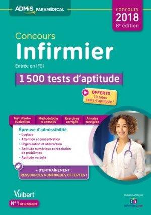 Concours Infirmier - Entrée en IFSI - 1 500 tests d'aptitude - vuibert - 9782311203974 -