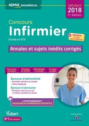 Concours infirmier entrée en IFSI - vuibert - 9782311204131 -