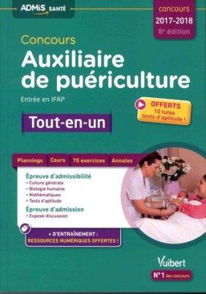 Concours Auxiliaire de puériculture - Entrée en IFAP - Tout-en-un - Concours 2017-2018 - vuibert - 9782311204155 -