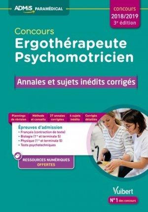 Concours Ergothérapeute et Psychomotricien 2018-2019 - vuibert - 9782311204162 -