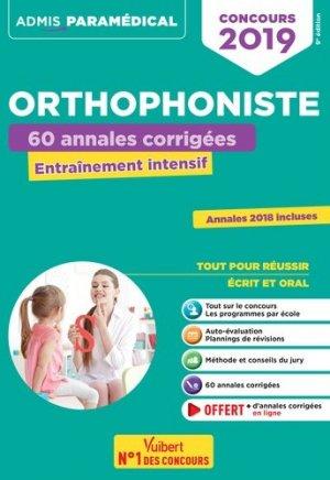 Concours orthophoniste 2019 - vuibert - 9782311205176 -