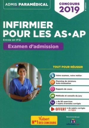 Concours Infirmier pour les AS-AP - Entrée en IFSI - Examen d'admission - Entraînement - vuibert - 9782311205213 -