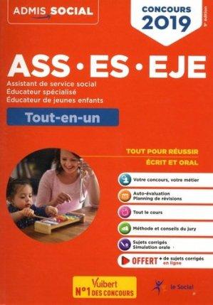 Concours ASS, ES, EJE 2019 - Tout-en-un - vuibert - 9782311205312 -