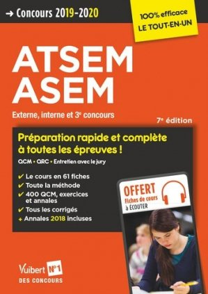 Concours ATSEM ASEM - vuibert - 9782311206210 -