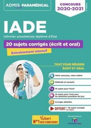 Concours IADE 2020-2021 - vuibert - 9782311207002 -