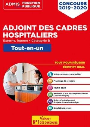 Concours adjoint des cadres hospitaliers 2019-2020 - vuibert - 9782311207514 -