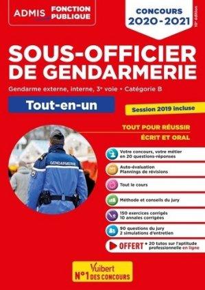 Concours Sous-officier de gendarmerie. Gendarme externe, interne, 3e voie. Catégorie B. Tout-en-un, Edition 2020-2021 - Vuibert - 9782311208177 -