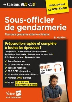 Concours Sous-officier de gendarmerie externe et interne. Edition 2020-2021 - Vuibert - 9782311208184 -