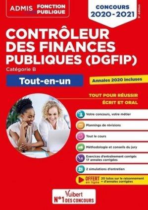 Contrôleur des Finances publiques DGFIP catégorie B. Edition 2020-2021 - Vuibert - 9782311208344 -
