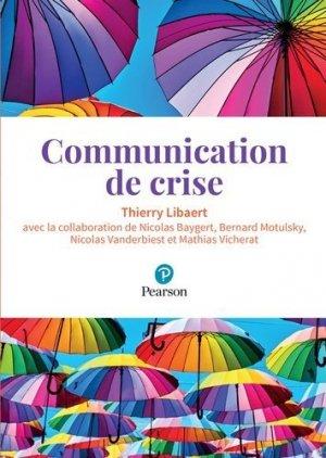 Communication de crise - pearson - 9782326001701 -