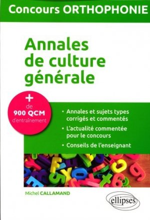 Concours Orthophonie - ellipses - 9782340001640 -