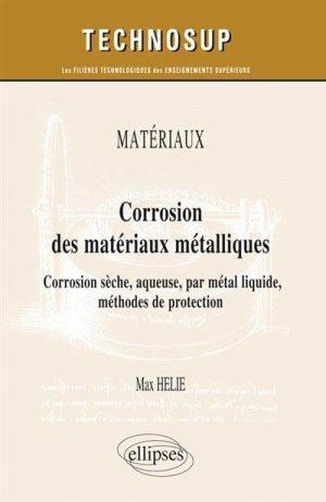Corrosion des matériaux métalliques - ellipses - 9782340004023 -