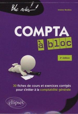 Compta à bloc - Ellipses - 9782340014114 -