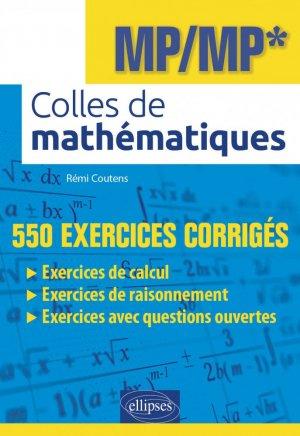 Colles de mathématiques MP/MP* - Ellipses - 9782340040274 -