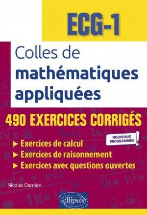 Colles de mathématiques appliquées - ECG-1 - Ellipses - 9782340048751 -