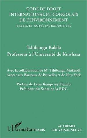 Code de droit international et congolais de l'environnement. Textes et notes introductives - L'Harmattan - 9782343105444 -