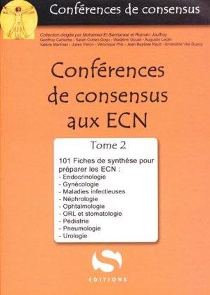Conférences de consensus aux ECN Tome 2 - s editions - 9782356400482