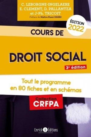 Cours de droit social 2022 - enrick b - 9782356447999 -