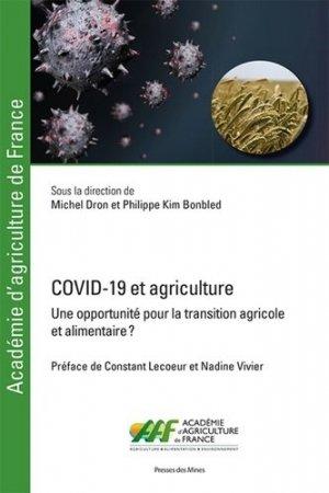 COVID-19 et agriculture - presses des mines - 9782356716217 -