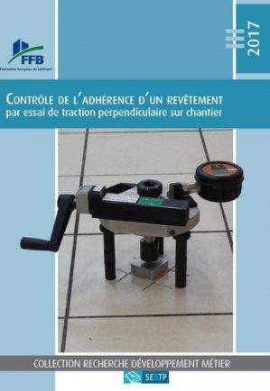 Contrôle de l'adhérence d'un revêtement - sebtp - 9782359171648 -