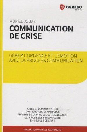 Communication de crise - gereso - 9782359532043 -