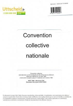 Convention collective nationale Bâtiment - 10 salariés 2016 + Grille de Salaire - uttscheid - 9782371553927 -