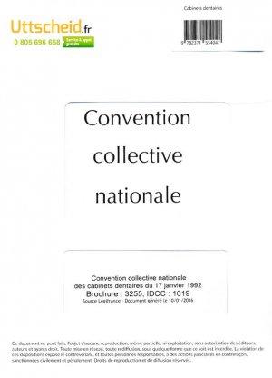 Convention collective nationale Cabinet dentaire 2016 + Grille de Salaire-uttscheid-9782371554047
