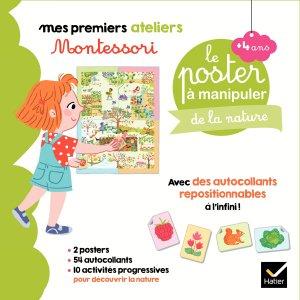 Coffret Montessori poster à manipuler de la nature - hatier - 9782401057548