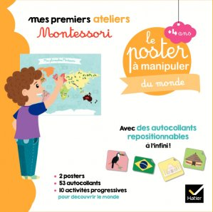Coffret Montessori poster à manipuler du monde - hatier - 9782401057555