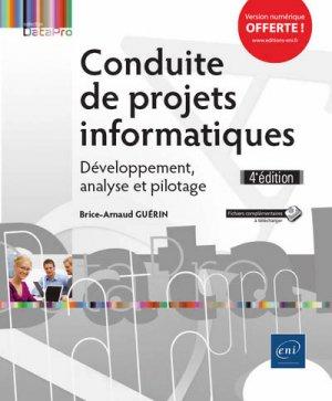 conduite de projets informatiques - developpement, analyse et pilotage (4e edition) - eni - 9782409014635