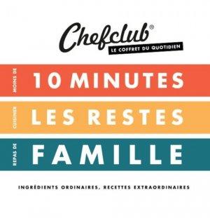 Coffret du quotidien. Moins de 10 minutes ; Cuisiner les restes ; Repas de famille - chefclub - 9782490129287 -
