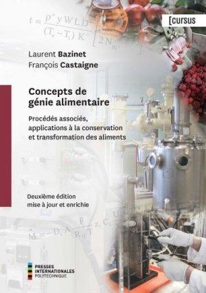 Concepts de génie alimentaire - polytechnique montréal - 9782553017216 -