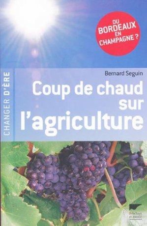 Coup de chaud sur l'agriculture - delachaux et niestle - 9782603016459 -