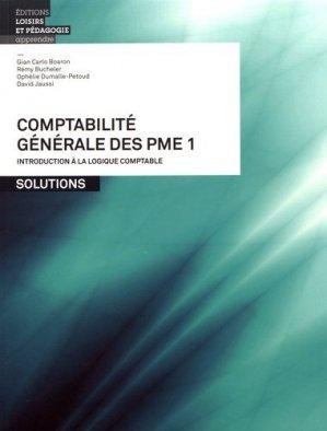 Comptabilité générale des PME - lep - loisirs et pedagogie (suisse) - 9782606017385 -