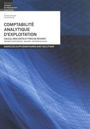 Comptabilité analytique d'exploitation - lep - loisirs et pedagogie (suisse) - 9782606019839 -