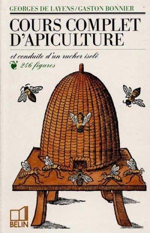 Cours complet d'apiculture - belin - 9782701110103 -