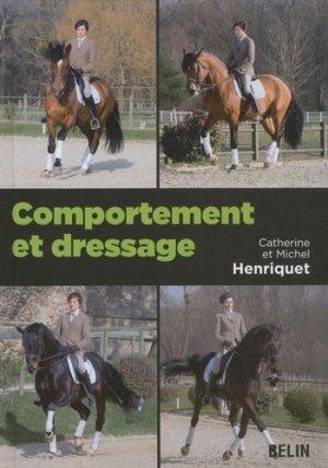 Comportement et dressage - belin - 9782701153407 -