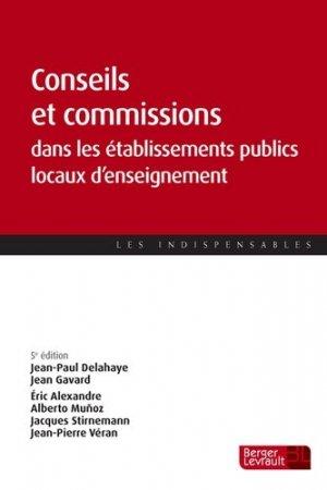 Conseils et commissions dans les établissements publics locaux d'enseignement - berger levrault - 9782701319933 -