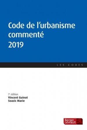 Code de l'urbanisme commenté - berger levrault - 9782701320052 -