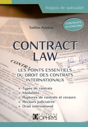 CONTRACT LOW  - OPHRYS - 9782708014237 -