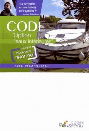 Code option 'eaux intérieures' 2015 - codes rousseau - 9782709513388 -