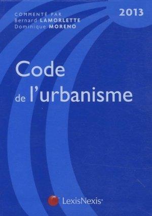 Code de l'urbanisme 2013 - lexis nexis (ex litec) - 9782711017577 -
