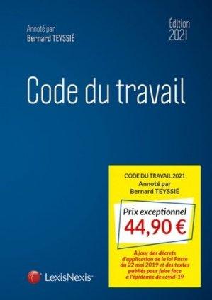 Code du travail. Edition 2021 - lexis nexis (ex litec) - 9782711032945 -