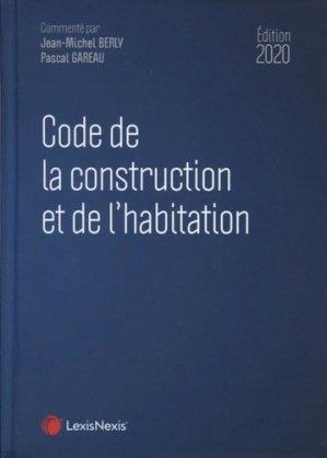 Code de la construction et de l'habitation 2020 - lexis nexis (ex litec) - 9782711032952 -