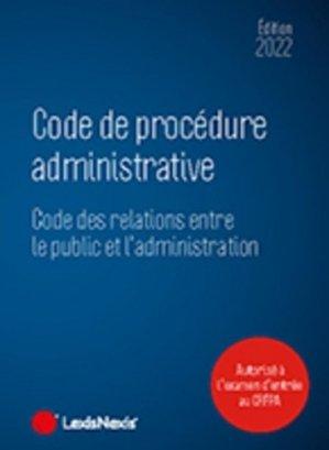 Code de procédure administrative - lexis nexis (ex litec) - 9782711034970 -